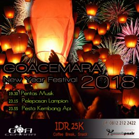 Goa Cemara New Year Festival 2018